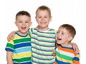 Three Joyful Laughing Boys