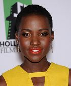 LOS ANGELES - OCT 21:  Lupita Nyong'o arrives to Hollywood Film Awards Gala 2013  on October 21, 201