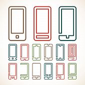 Smart phone abstract icons
