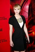 NEW YORK-NOV 20; Actress Jennifer Lawrence attends the 'Hunger Games: Catching Fire' premiere at AMC Lincoln Square Theater on November 20, 2013 in New York City.
