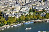 picture of bonaparte  - Bird eyes view of Paris from the Eiffel tower in Paris - JPG