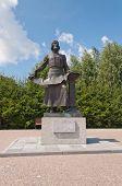 Monument Remizov S.u. Tobolsk. Russia