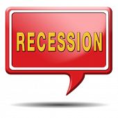 recession crisis bank and stock crash economic and financial bank recession market crash icon or but