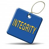 integrity authentic and honest and reliable guidance integrity button integrity icon trust with text and word concept