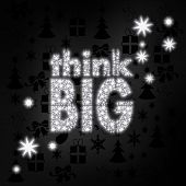 Noble Think Big Label With Stars