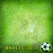 Grunge background - Brazil 2014. Space for text