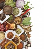 foto of cumin  - Spices And Herbs Isolated On White Background - JPG