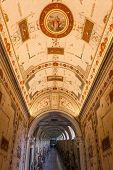 VATICAN - NOVEMBER 14 : Hall way of the Vatican Museums in Vatican on November 14, 2013 in Rome, Ita