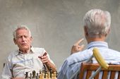 Pensioners playing chess