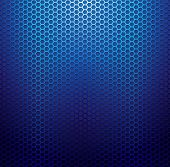 Blue metallic grid background