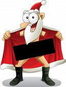 foto of lunate  - Crazy vector of a flasher Santa - JPG