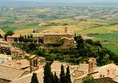 Town Montalcino In Tuscany