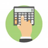 stock photo of calculator  - Calculator icon - JPG