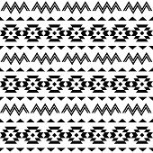 Tribal pattern, Aztec seamless background