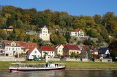 Spa town at the Elbe river in Saxony
