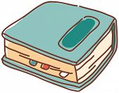 A vector illustration of a filofax