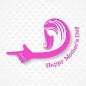 Mothers day greeting with female face and hand stock vector