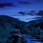 Going To Nature Throug The Bridge At Night