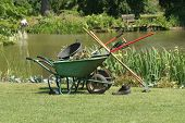Gardening Tools By Pond