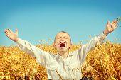 Kid In Wheat Field