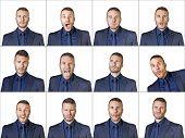 Businessman Expressions Composition