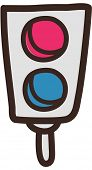 Vector illustration of traffic lights