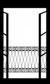 Vector illustration of an open window
