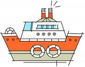 Vector illustration of a cruise ship
