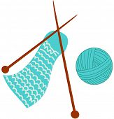 Vector illustration of Knitting material
