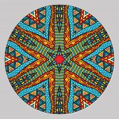 Colorful Ethnic Round Pattern