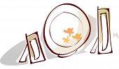 Vector illustration of dinnerware