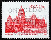 Postage Stamp South Africa 1987 Durban City Hall