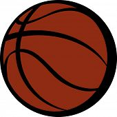 Vector illustration of a ball for basket