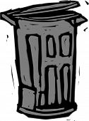 Vector illustration of a trash can