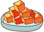 stock photo of kimchi  - Vector illustration of Diced Radish Kimchi - JPG