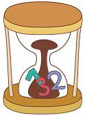 Vector illustration of a sand clock