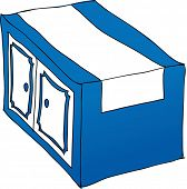 Vector illustration of a drawer