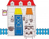 Vector illustration of a rural store