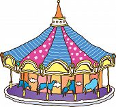 Vector illustration of a carousel
