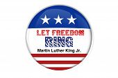 Patriotic badge: Let freedom ring