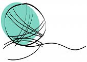 Vector illustration of a ball of yarn