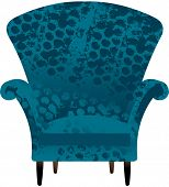 Vector illustration of armchair