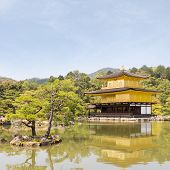 Kinkaku-ji Temple (The Golden Pavilion) in Kyoto, Japan.