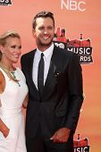 LOS ANGELES - MAY 1:  Luke Bryan, Caroline Boyer at the 1st iHeartRadio Music Awards at Shrine Audit