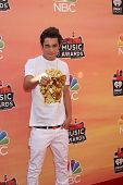 LOS ANGELES - MAY 1:  Austin Mahone at the 1st iHeartRadio Music Awards at Shrine Auditorium on May