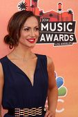 LOS ANGELES - MAY 1:  Karina Smirnoff at the 1st iHeartRadio Music Awards at Shrine Auditorium on Ma