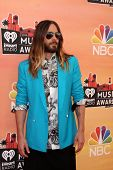 LOS ANGELES - MAY 1:  Jared Leto at the 1st iHeartRadio Music Awards at Shrine Auditorium on May 1,
