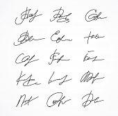 Vector Signature fictitious Autograph