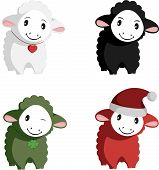 Happy Sheep Mascots
