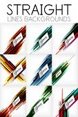 Straight lines abstract vector background collection.